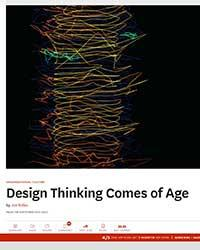 2015 11 09 HBR Design Thinking Comes of Age
