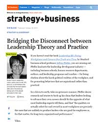 Bridging the Disconnect between Leadership Theory and Practice